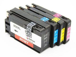 Zestaw Tuszy 950XL + 951XL CMY do HP Officejet Pro 8100 8600 8610 8620 251 276 / Czarny 80ml / Kolory 30 ml / zamienniki / DD-Print